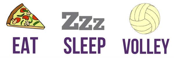 Eat Sleep Volleyball TShirt  Zazzlecouk