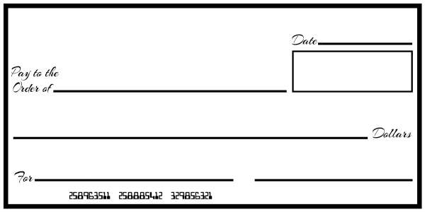 Oversized cheque template oversized check template free for Oversized check template