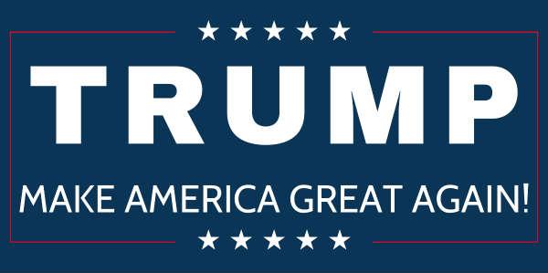 Bumper sticker design and print - Donald Trump Vinyl Banners Trump Make America Great Again
