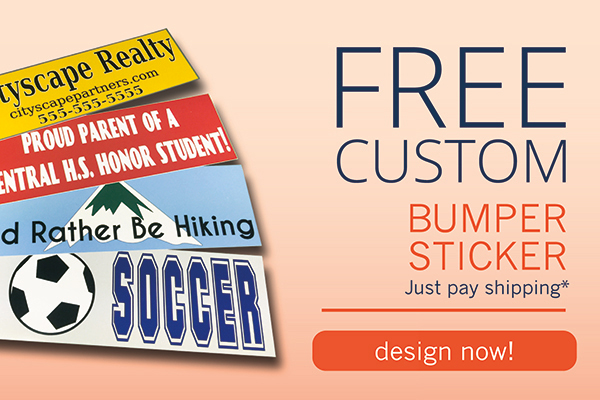 Free Bumper Sticker Offer